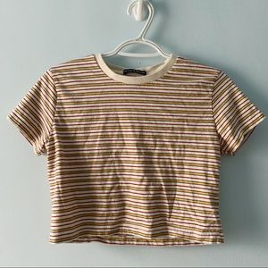 Brandy Melville Striped Crop Top